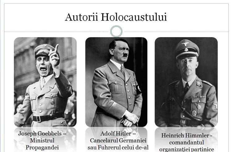 Goebbels,Hitler,Himmler Cei 3 ideologi ai holocaustului