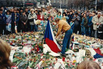 Praga,Cehia,1989,Václav Havel si protestatari pașnici ,Revoluția de catifea