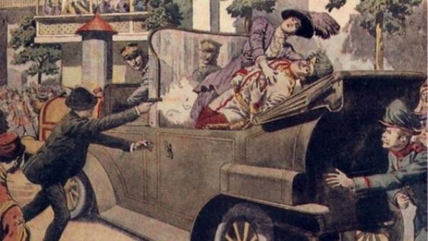 Asasinatul principelui moștenitor al Austriei,Franz Ferdinand la Sarajevo,28 iunie 1914. ucigașul principelui: Gavrilo Princip (sârb)