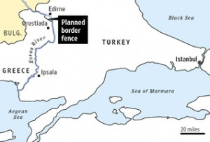 Râul Evros,granița naturală dintre Grecia și Turcia