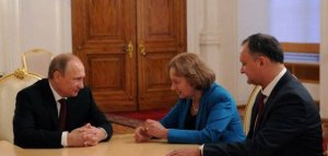 Putin,Greceanîi și Dodon // Foto: kremlin.ru // 5 noiembrie 2014