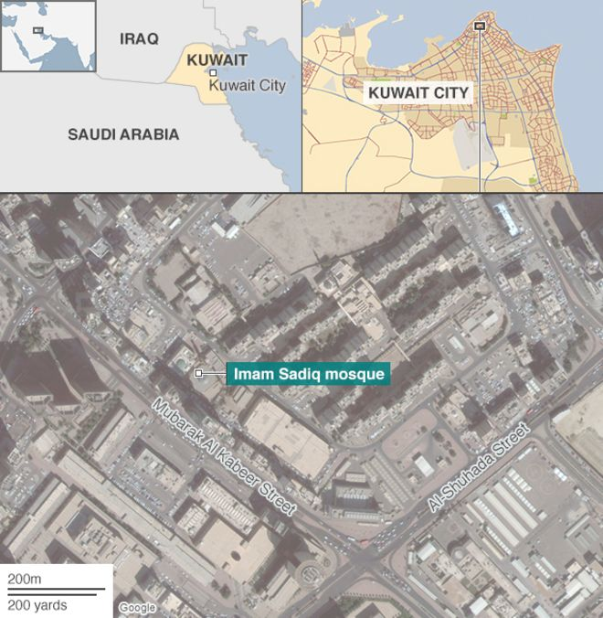Moscheea din orașul Kuweit. Credits : BBC