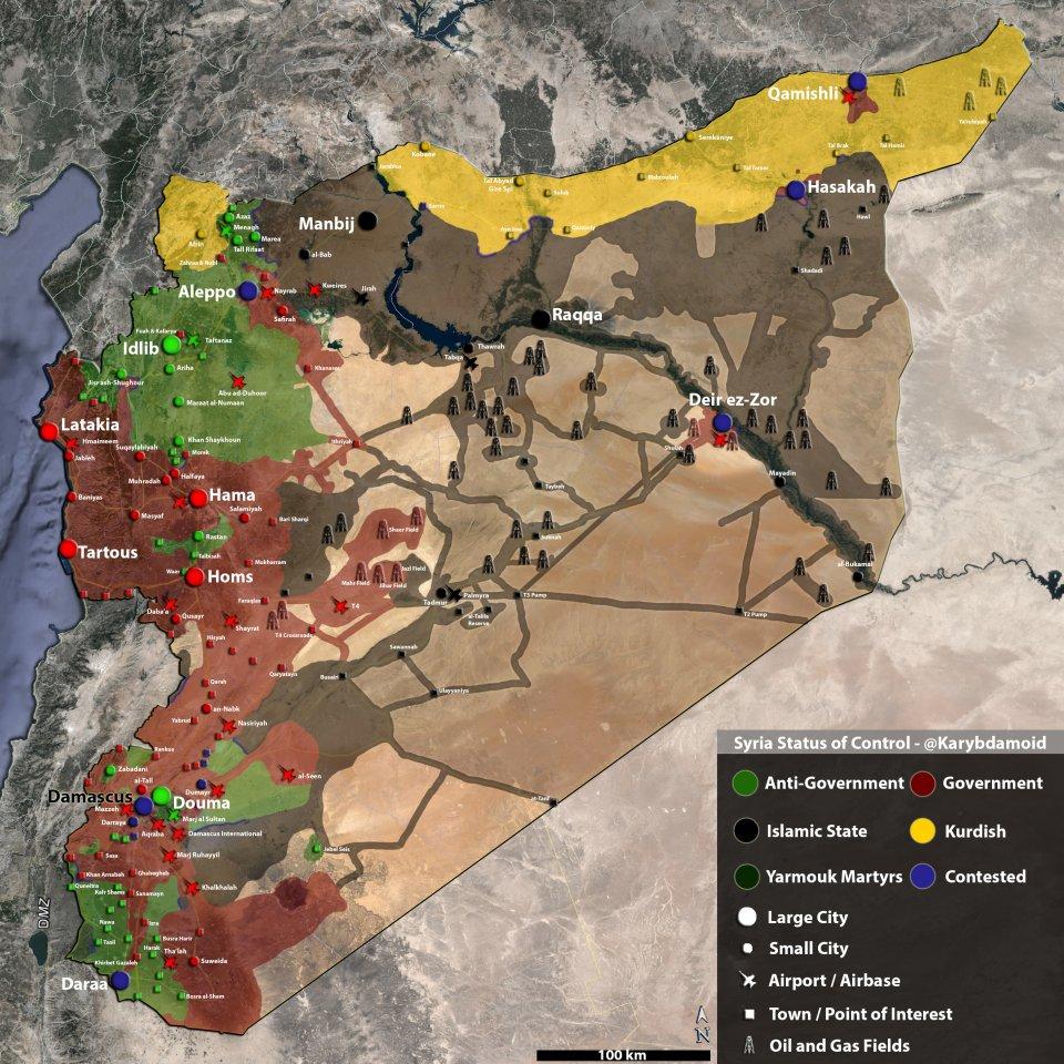 Detailed map of Syria ; courtesy of businessinsider.com